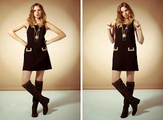 vestido con bolsillos punto roma