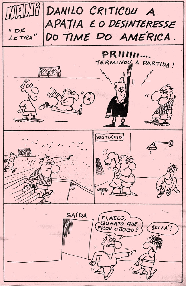 17/03/1976 - Danilo criticou a apatia e o desinteresse do time do América
