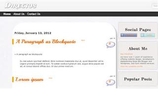 template blog keren gratis