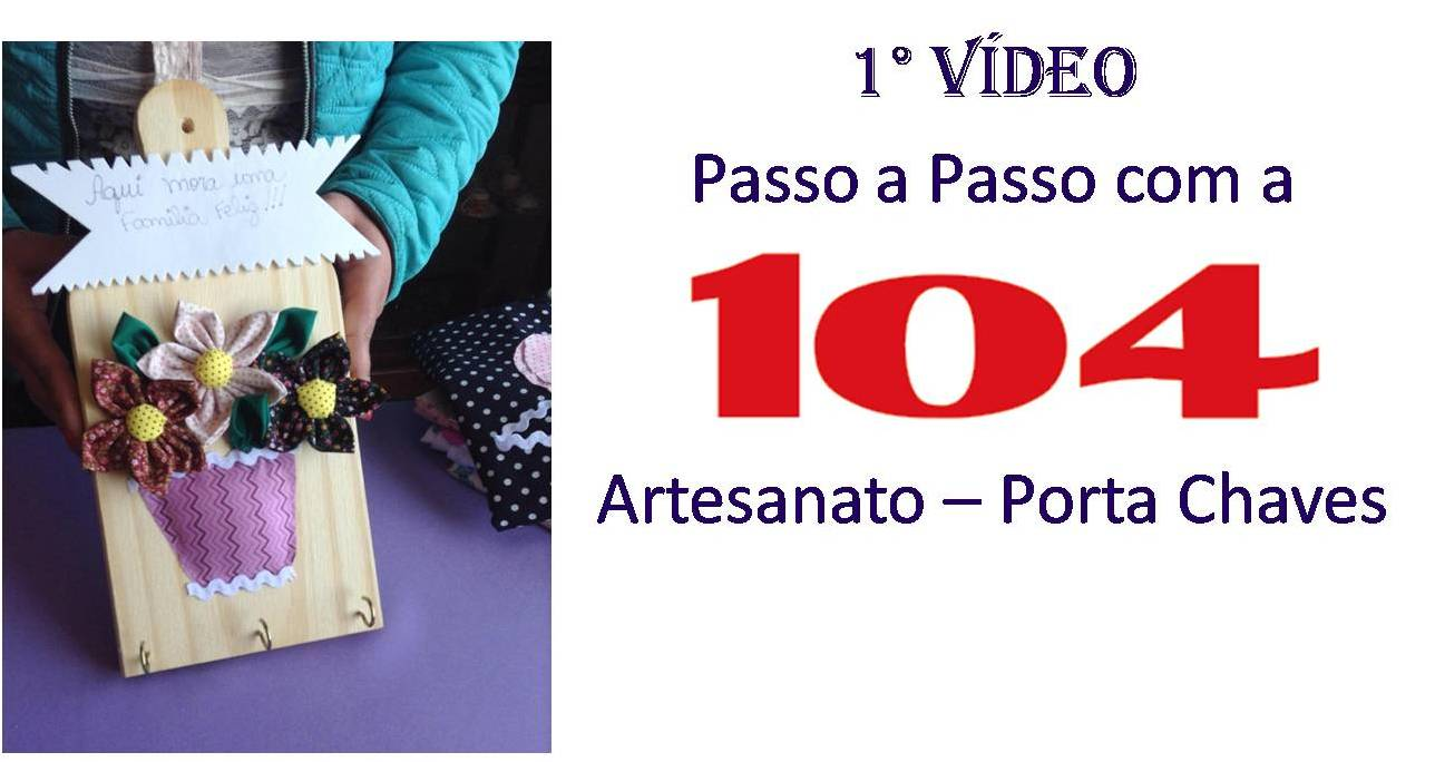 DIY Artesanato - Porta Chaves
