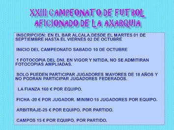 XXIII CAMPEONATO DE FUTBOL AFICIONADO DE LA AXARQUIA