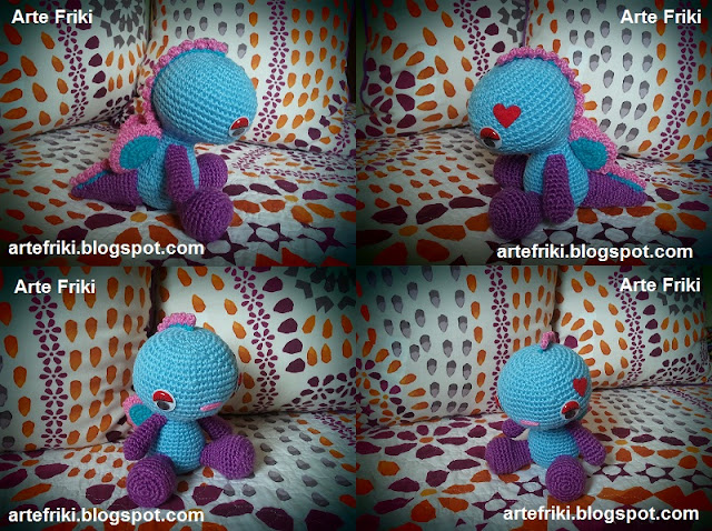 dragon amigurumi crochet ganchillo doll plush muñeco