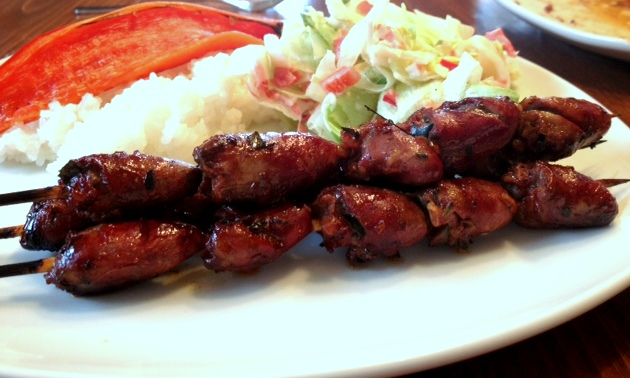 Chicken Heart On Skewers Pimentious