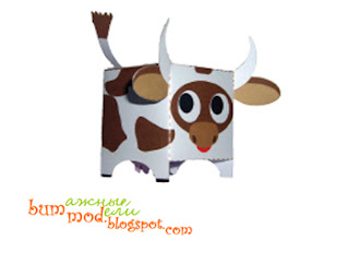 бумажная модель корова