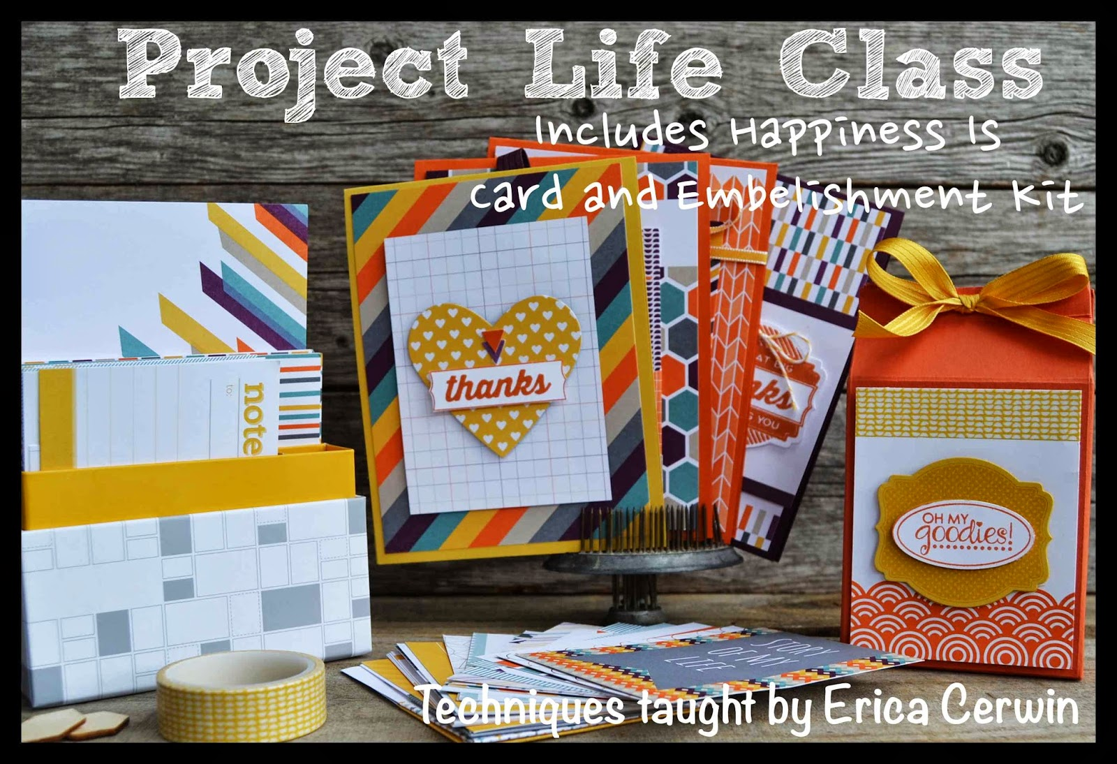 How to make scrapbook for school project - Project Life Class Come Learn How To Use The 100 Project Life Cards To Make Quick Cards 3d Projects And A Simple Scrapbook Page