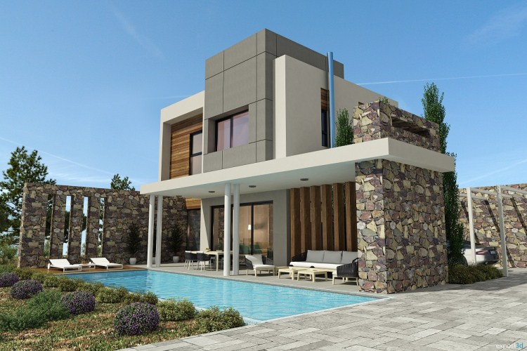 Modern stylish latest homes exterior designs cyprus for Latest modern home designs