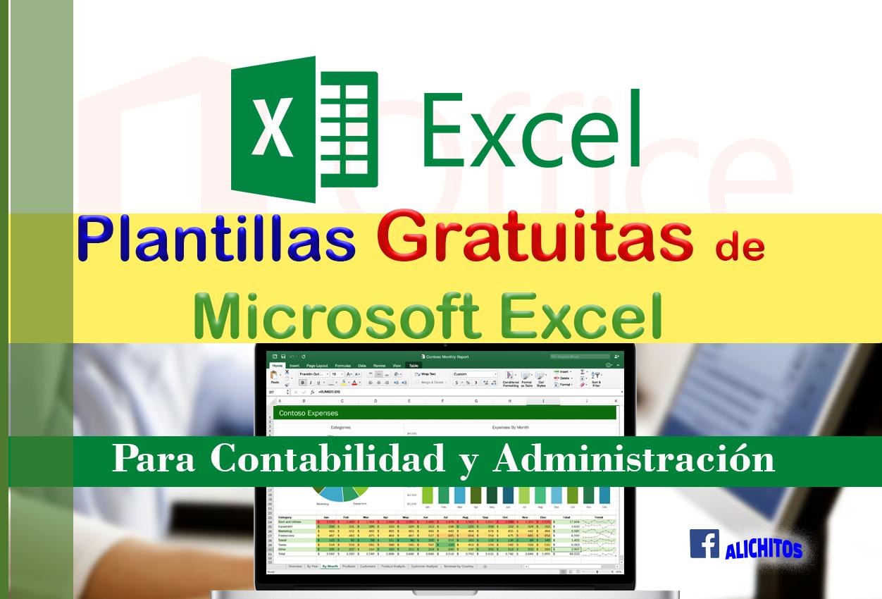 Plantillas Gratuitas de Microsoft Excel ~ Alichitos