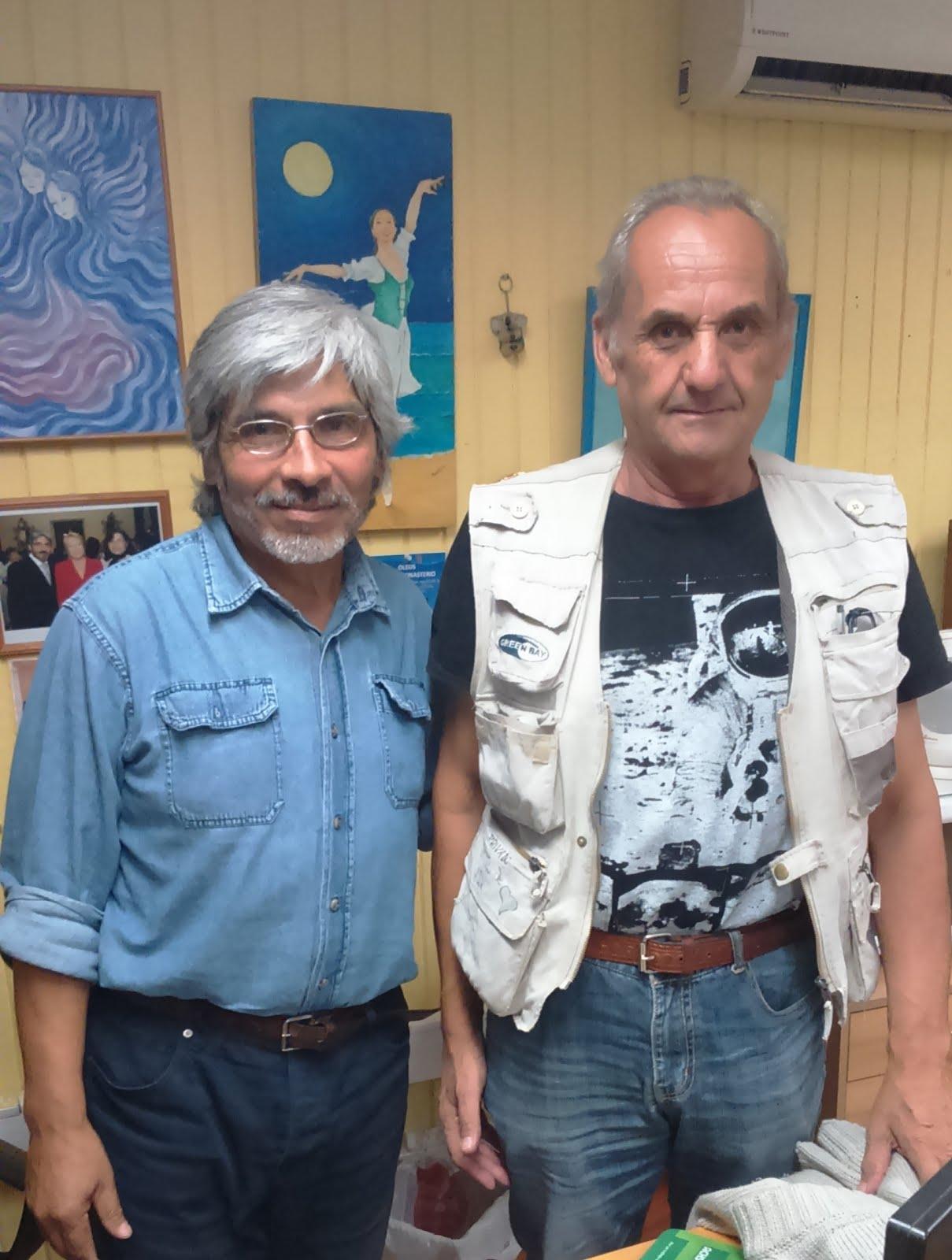 Con Ricardo Zeballos S