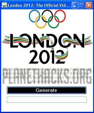 London 2012 The Official Video Game of the Olympic Games Keygen