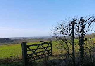 Sunshine, blue skies and clear views across North Oxfordshire in January
