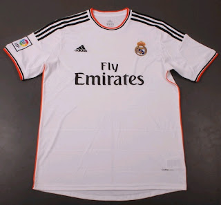 Real Madrid white shirt for the 2013-2014 season