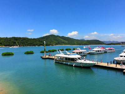 Lake Cruise Boat Piers in Sun Moon Lake