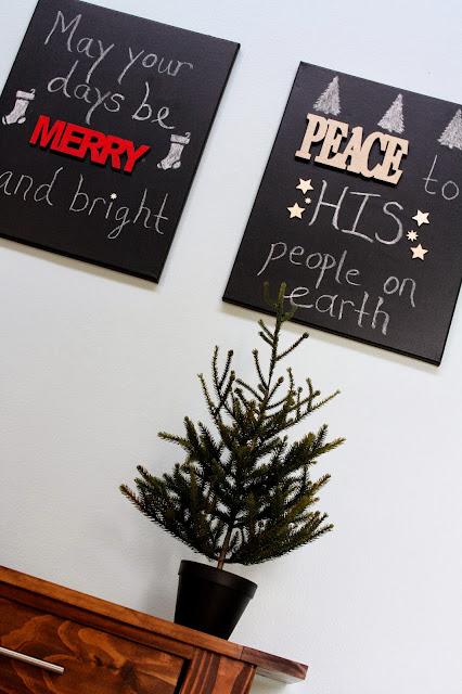 DIY Christmas wall hangings