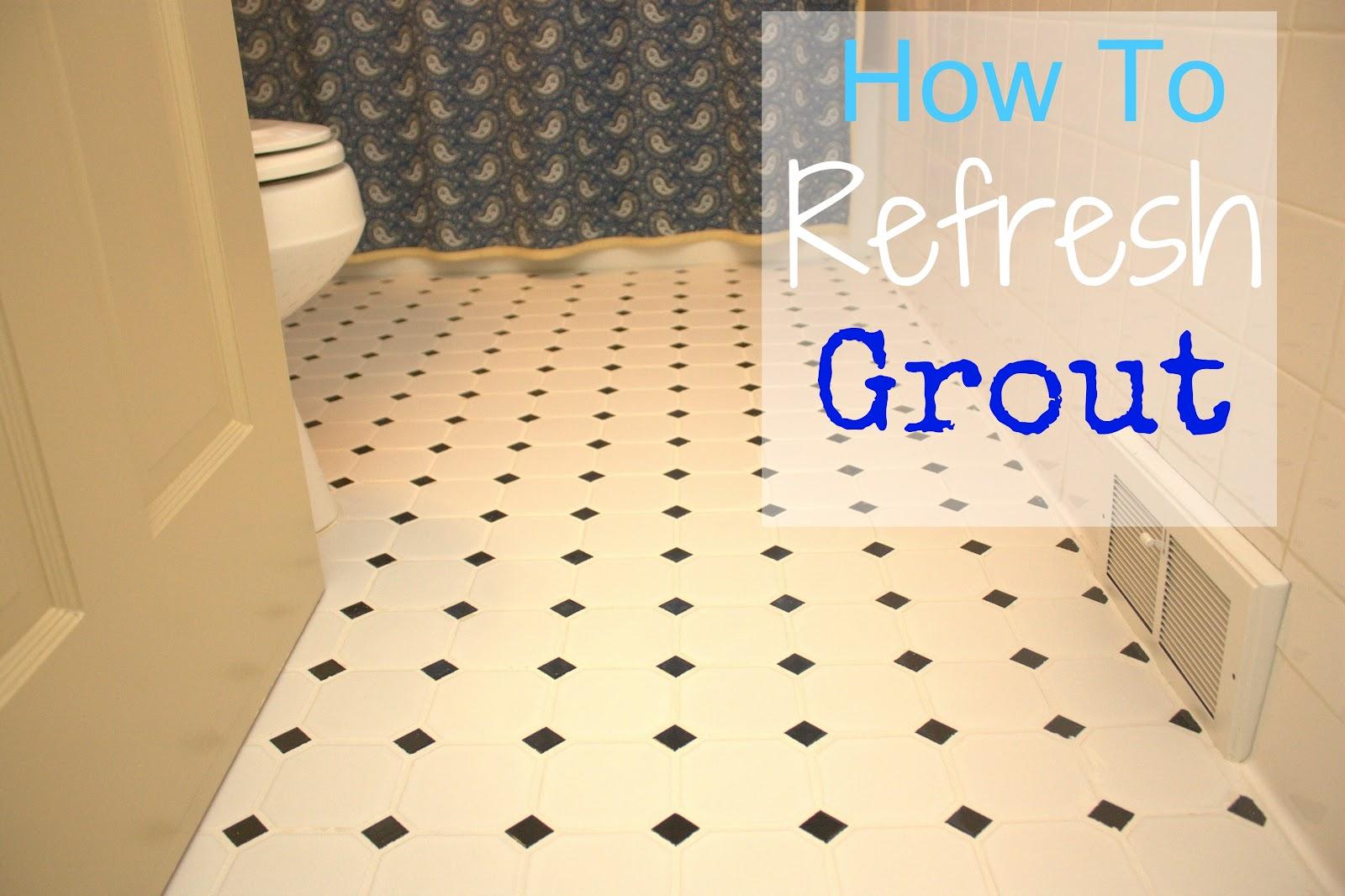 How to grout bathroom floor tile