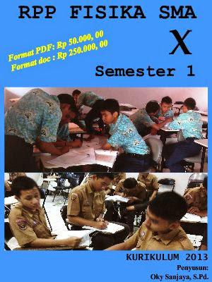 JUAL RPP FISIKA SMA KELAS X SEMESTER 1