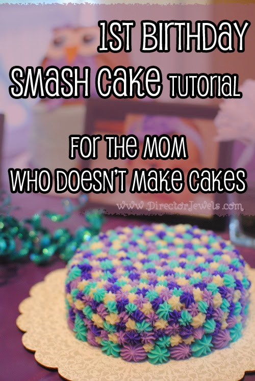 Director Jewels Easy Unique 1st Birthday Smash Cake Tutorial