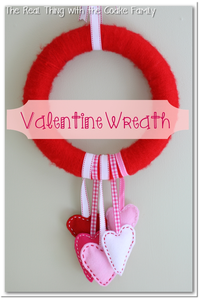 Valentine Wreath With Felt Hearts