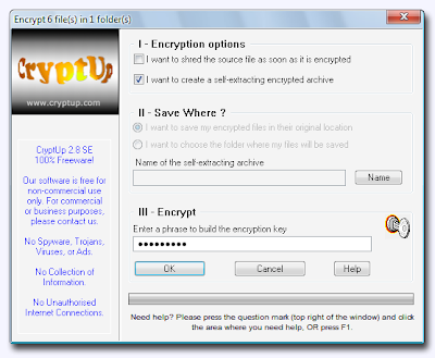CryptUp , encryption software , decryption software