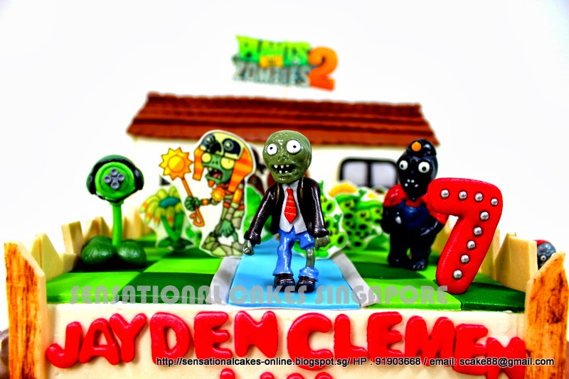 Plants Vs Zombies Cake Topper Crazy Dave