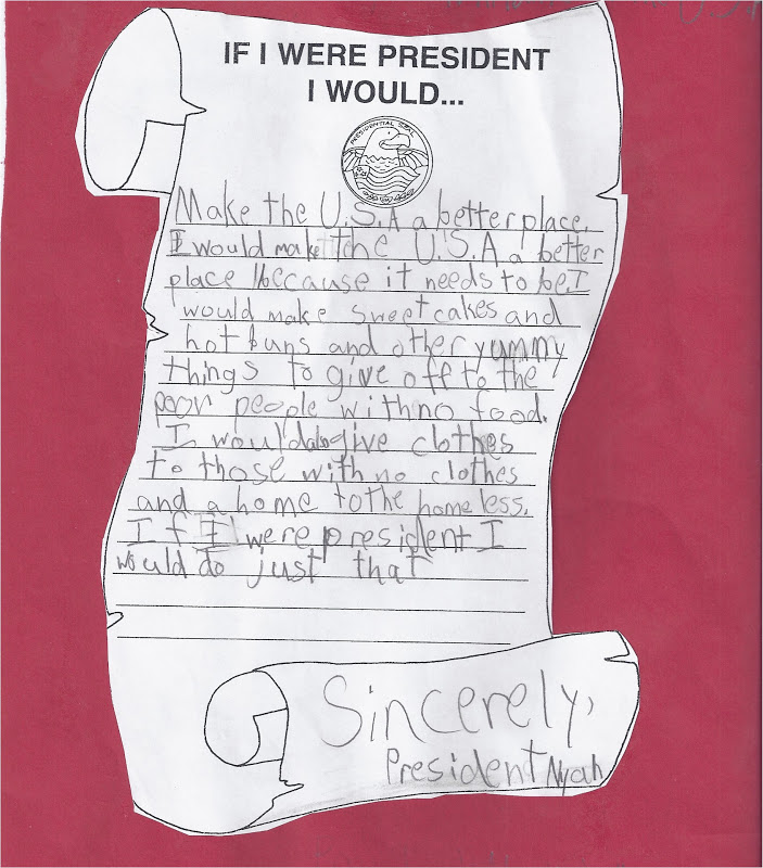 if i were president Looking for a simple way to incorporate president's day into your lessons kathleen over at growing kinders featured an if i were president writing activity that would be perfect.
