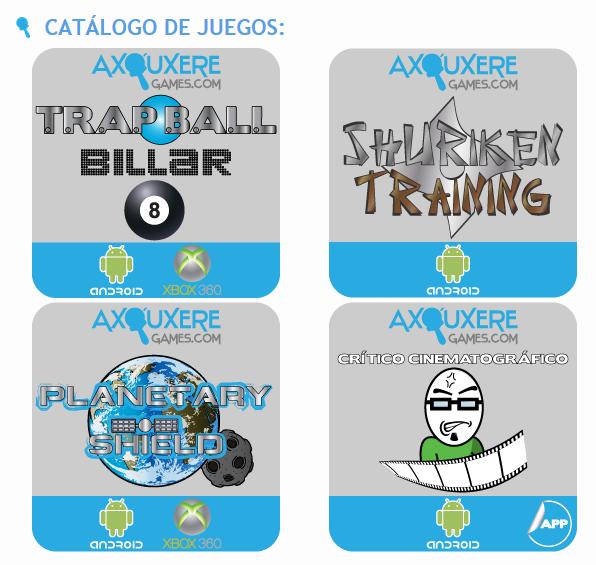 Juegos para Android del estudio español Axouxere Games.