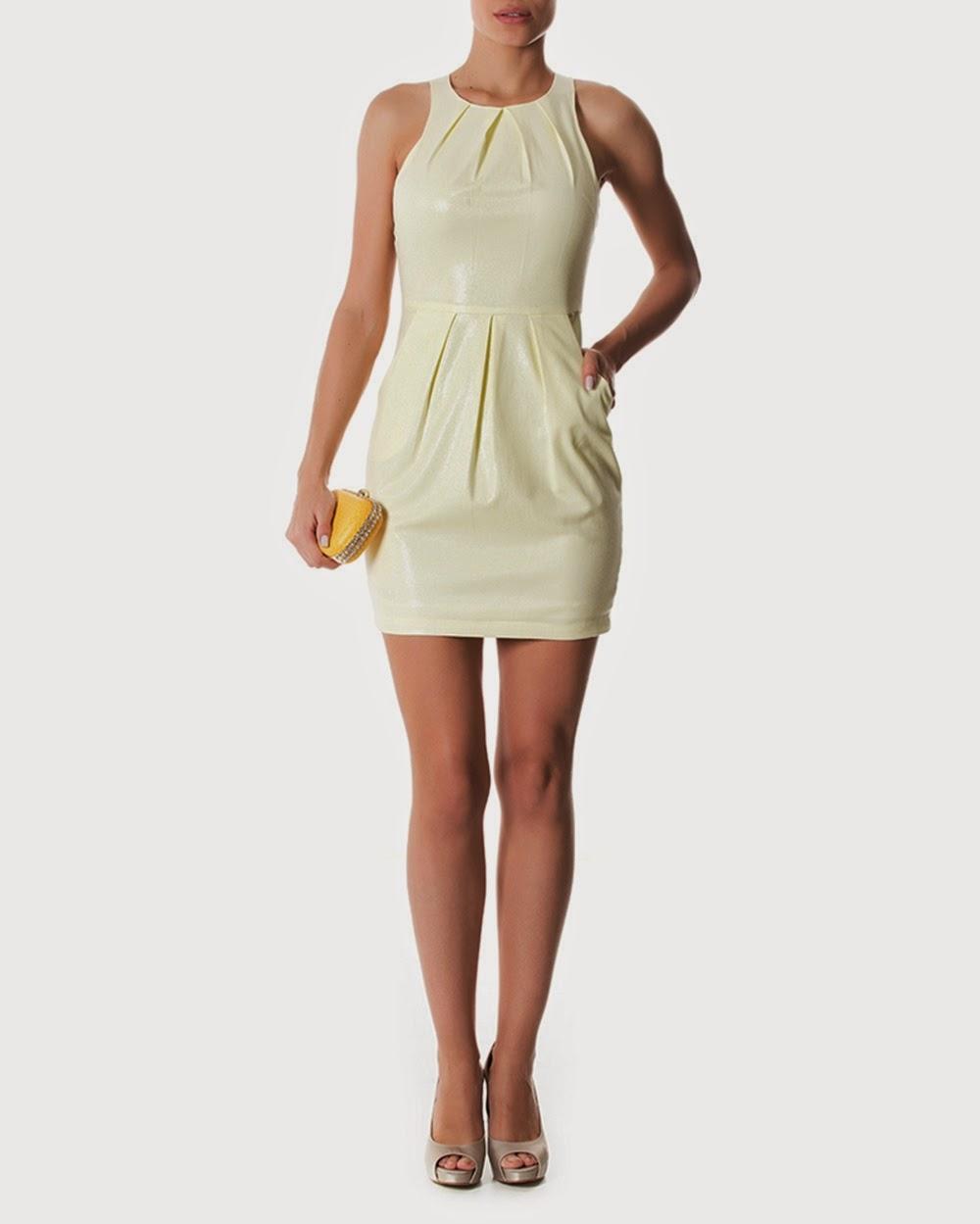 modelo de vestido tubinho neutro