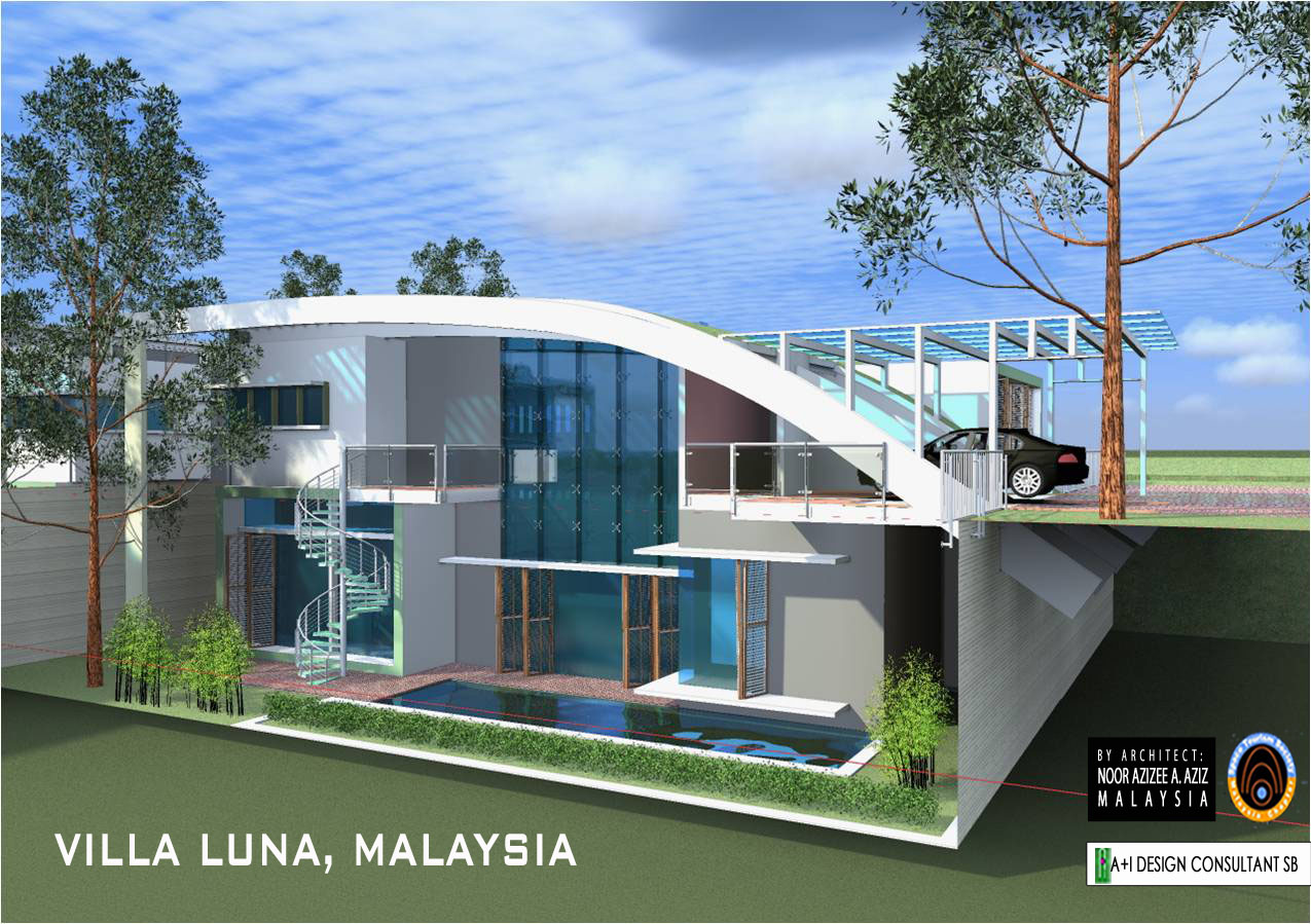 Villa luna spaceport malaysia early conceptual real for Architecture design malaysia house