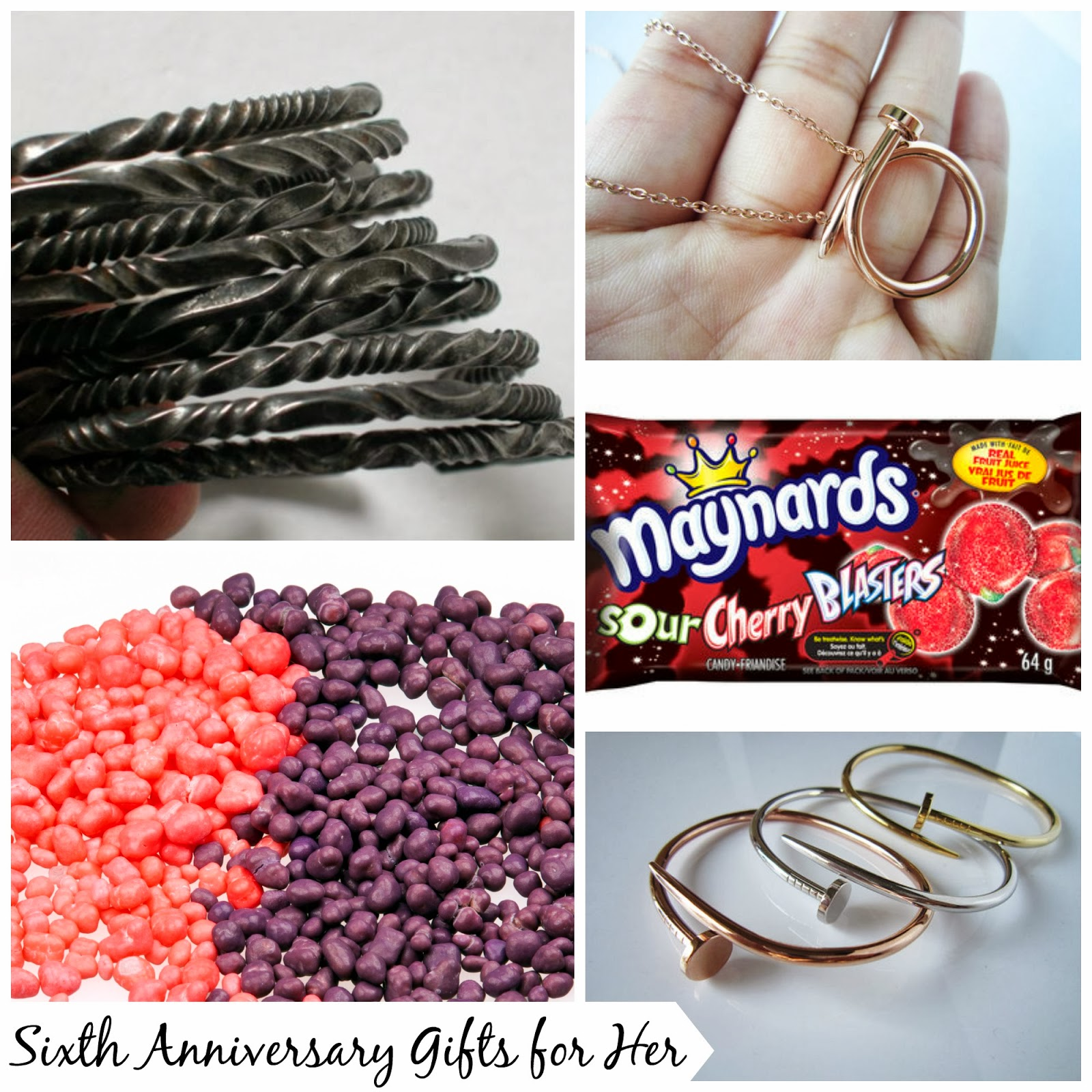 Sixth Wedding Anniversary Gift Ideas for Her #anniversay #giftforher