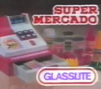 Propaganda do Supermercado da Glassilte. Brinquedo de sucesso dos anos 90.