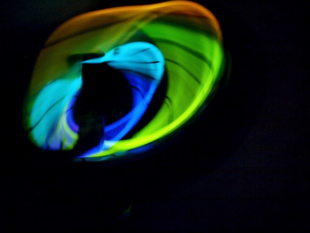 Easy glow stick play with kids- fun outdoor art activity!