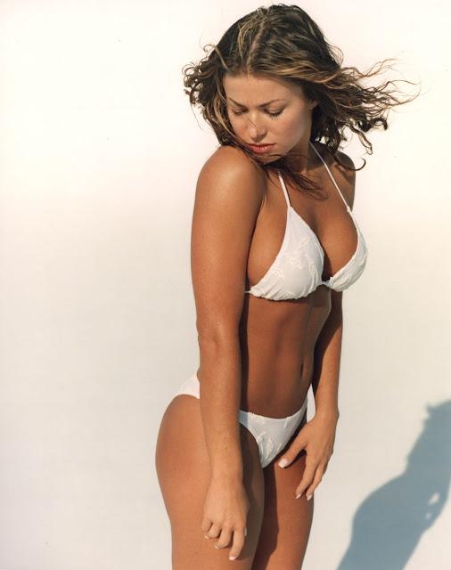 White Bikini Beach Carmen Electra