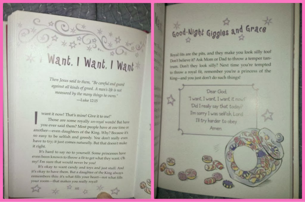 God's Little Princess Bedtime Devotional sample pages