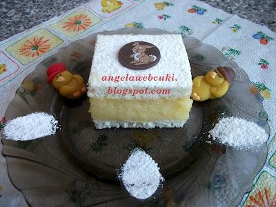 Húsvéti krémes sütemény, egy nagyon finom krémes süti, Dr. Oetker házi krémes krémmel elkészítve.