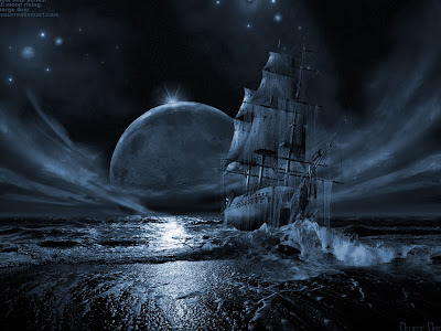 the-ghost-ship-sailing-on-the-horison-gothic-wallpapers