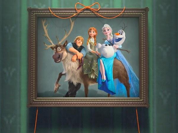 retrato de los protagonistas de Frozen Fever
