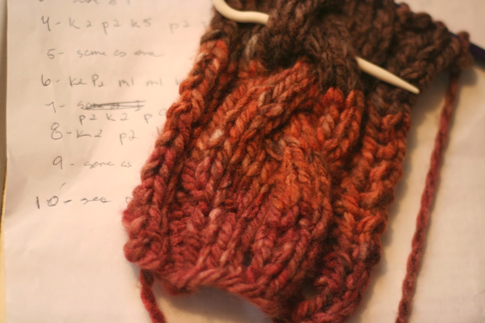 making changes to the cable headband pattern, and more shortbread