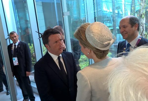 Queen Mathilde Visited Expo 2015 In Milan