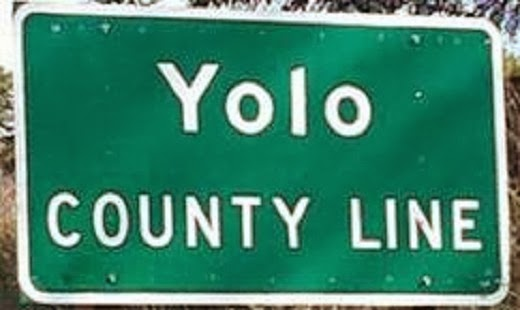 Yolo road sign California road trip