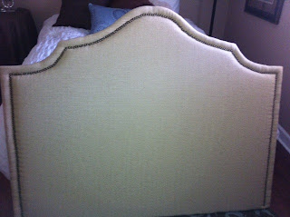 making a nailhead trim headboard