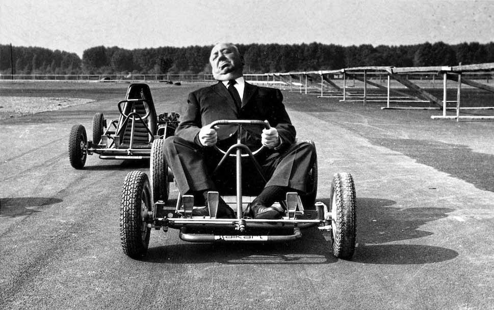 Alfred Hitchcock Riding A Go Kart 1960 Vintage Everyday