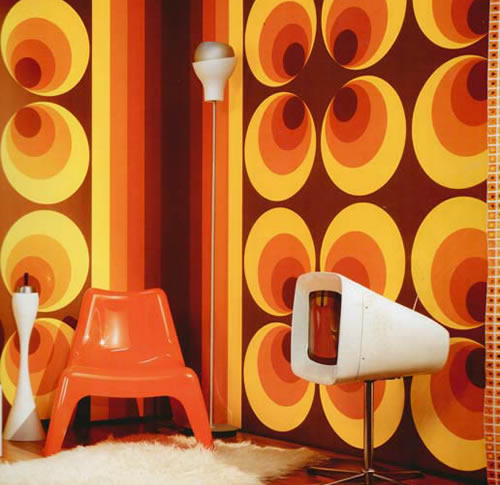 Retro wallpapers for your walls for Vintage wallpaper for walls