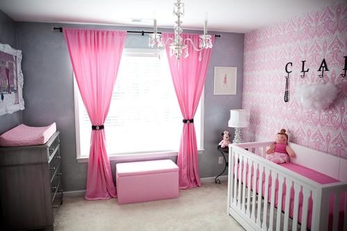 Habitaci n de beb rosa y gris dormitorios con estilo for Cuarto color gris