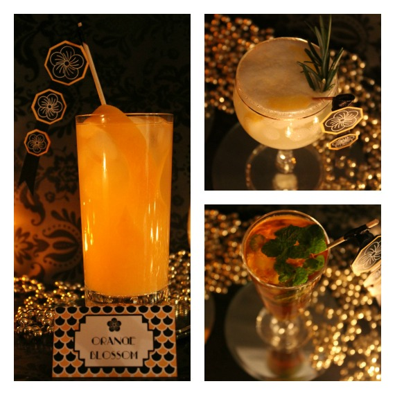 DIY Free Printable Art Deco Cocktail Party Tags & Swizzle Sticks