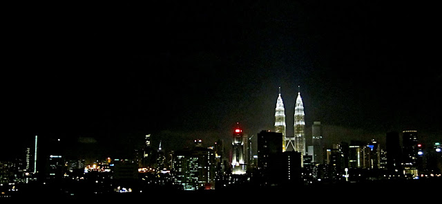 Kuala Lumpur at night skyline