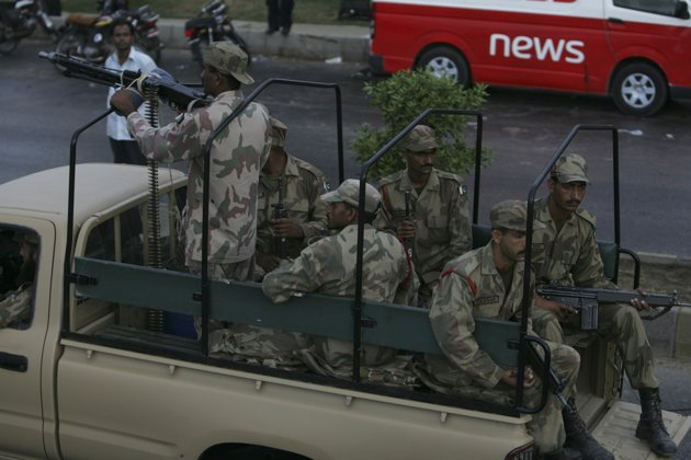 Pakistani naval base attack in Pictures