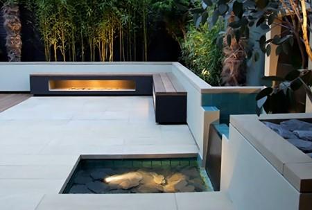 Modernos patios Kitchen Design Luxury Homes