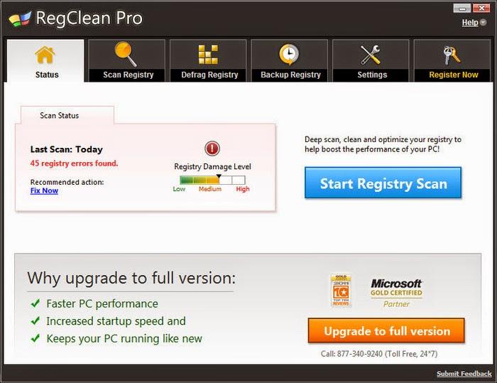 reg clean pro malware