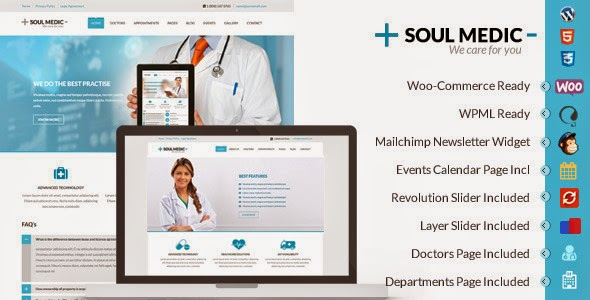 SoulMedic v1.2.1 - Flat Responsive Medical & Health Theme