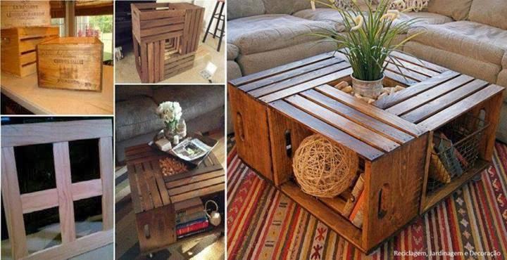 mesa de caixotes de feira maravilhoso detalhe das pedras   a