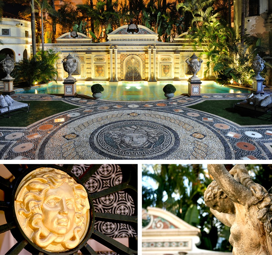 Luxury life design versace mansion auctioned off for 41 5m for Versace pool design